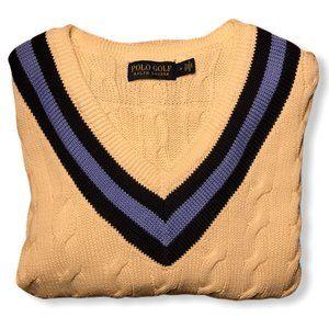 Polo Ralph Lauren Cable Knit Tennis Sweater (EUC)